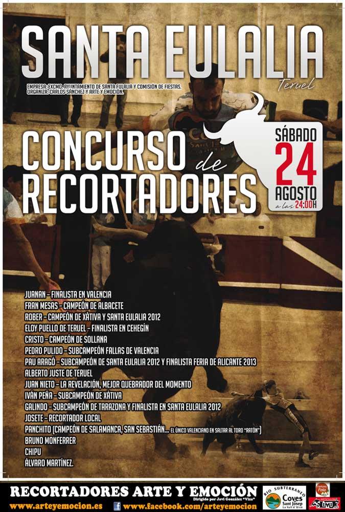 Santa Eulalia del Campo (Teruel) acogerá el sábado un espectacular Concurso de Recortes nocturno