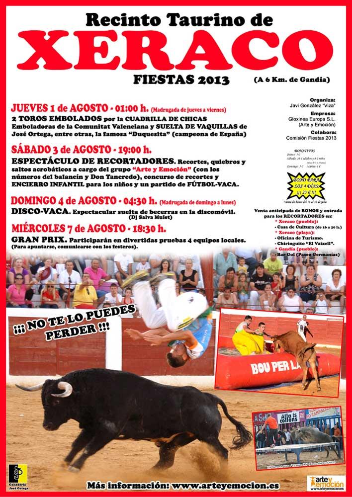 Las emboladoras de la Comunitat Valenciana abren hoy jueves la Feria Taurina de Xeraco (Valencia)