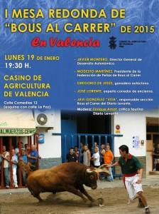 I MESA REDONDA DE BOUS AL CARRER DE 2015