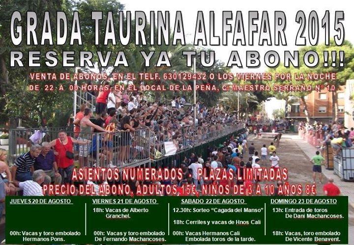 Festejos Taurinos Alfafar 2015